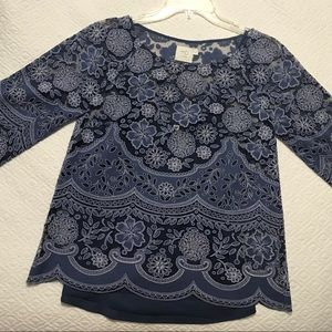 Anthropologie Lace/floral top